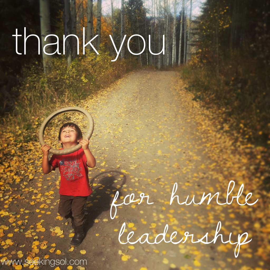 Humble Thanks: Thank You For Humble Leadership